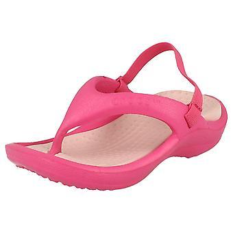 Childrens Unisex Crocs tå Post sandaler Athen rem