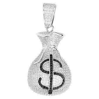 Premium Bling - 925 sterling silver money bag pendant