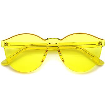 One Piece PC Lens Rimless Ultra-Bold Colorful Mono Block Sunglasses 60mm