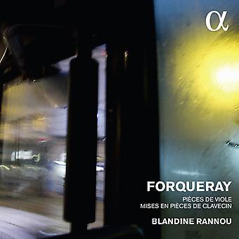 Forqueray / Rannou, Blandine - Forqueray: Pieces De Viole & Mises En Pieces De Clavecin [CD] USA import