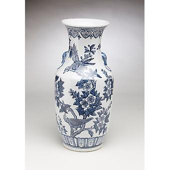 AA Importing 59844 Blue And White Vase