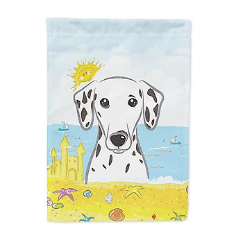 Carolines Treasures  BB2078GF Dalmatian Summer Beach Flag Garden Size