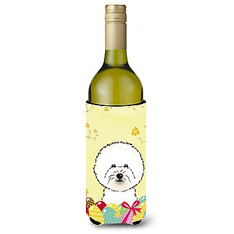 Bichon Frise Easter Egg Hunt Wine Bottle beverage Insulator Hugger