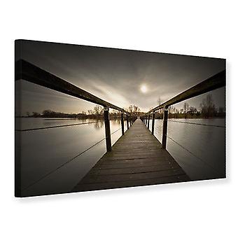 Leinwand drucken die Holzbrücke