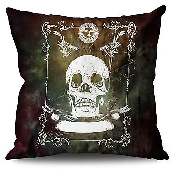 Guns Skeleton Death Linen Cushion 30cm x 30cm | Wellcoda