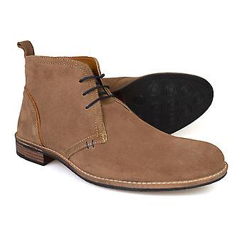 Silver Street London York Tan Suede Mens Desert Boots