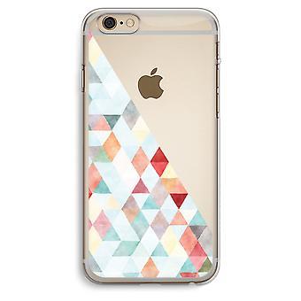 iPhone 6 Plus / 6S Plus caja transparente (suave) - triángulos de colores pastel
