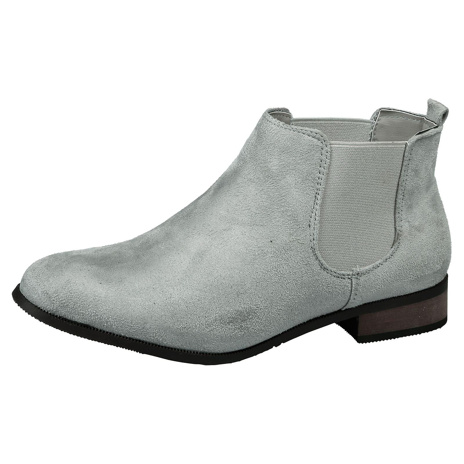 Emma Womens Pull On Low Heel Chelsea Ankle Boots