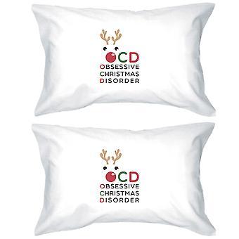 ルドルフ OCD 綿枕カバー クイーン サイズ クリスマス ギフト