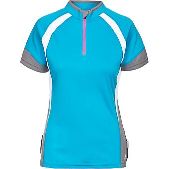 Intrusion Womens/dames Harpa Half Zip mèche Top vélo sèche rapide
