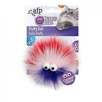 AFP Fluffy Ball Rojo Furry Ball (Chats , Jouets , Baguettes)