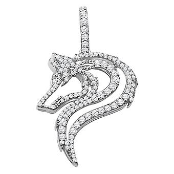 925 sterling silver micro pave pendant - DRAGON