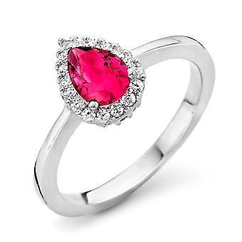 Orphelia Silver 925 Ring Drop Ruby kleur zirkonium ZR-7226/RU