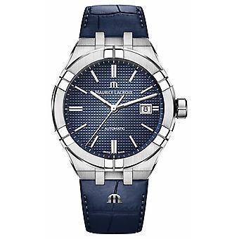 Maurice Lacroix Aikon automatische Blue Dial blauw lederen AI6008-SS001-430-1 Watch