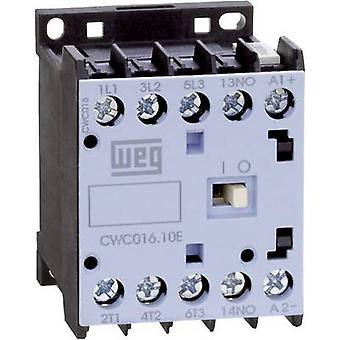 WEG CWC07-10-30D24 contactor 3 beslutsfattare 3 kW 230 V AC 7 A + extra kontakt 1 st. (s)