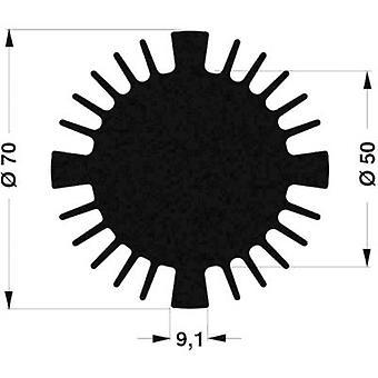 """פישר אלקטרונית SK 570 15 SA כיור חום LED 2.27 K/W (Ø x H) 70 mm x 15 מ""""מ"""