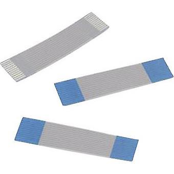 Würth Elektronik 686606200001 Ribbon Kabel Kontakt Abstand: 1 mm 6 x 0.00099 mm ² grau, blau, 0,2 m