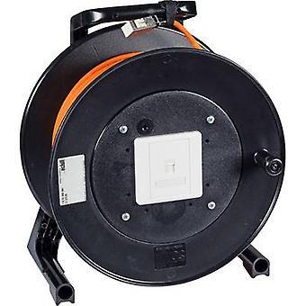 RJ45 Networks Cable reel CAT 6 S/FTP [1x RJ45 socket - 1x RJ45 socket] 90.00 m Orange Flame-retardant EFB Elektronik