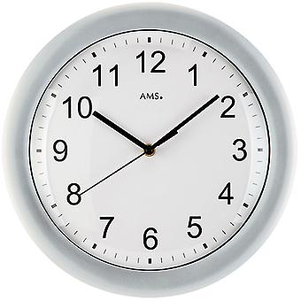 Silver radio controlled wall clock wall clock radio silver plastic housing