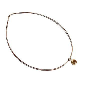 Gemstone necklace for ladies lemon quartz necklace 925 silver plated
