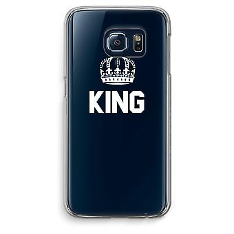 Samsung Galaxy S6 bordo trasparente custodia (Soft) - re nero