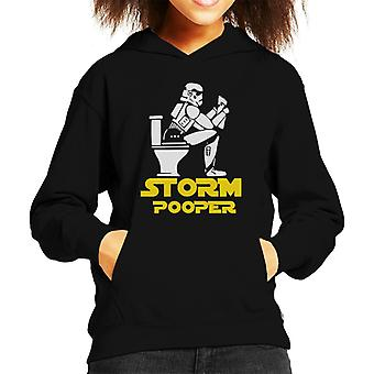 Original Stormtrooper Pooper Kid's Hooded Sweatshirt
