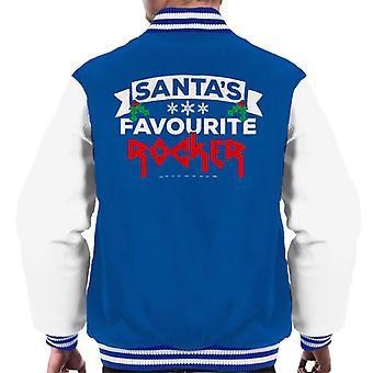 Varsity Jacket Santas Rocker preferito Natale maschile