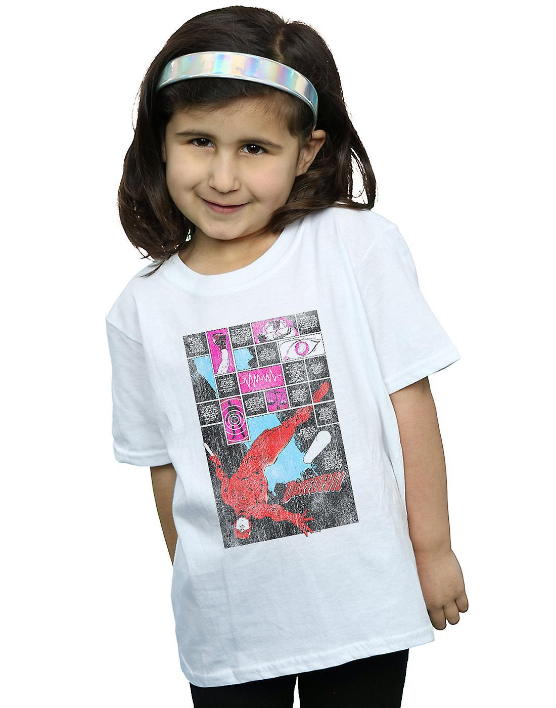 Marvel Girls Daredevil Comic Panels T-Shirt