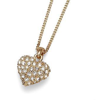 Oliver Weber Pendant Full Heart Rhodium Crystal