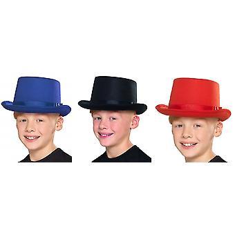 Kinderen hoed unisex cilinder carnaval accessoire kostuum