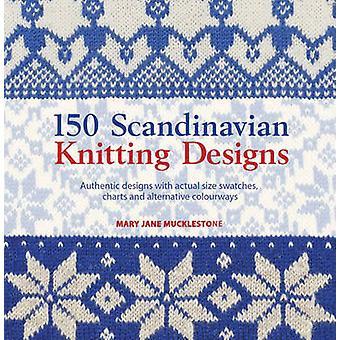 150 skandinavisk Strik design - autentisk design med faktiske størrelse