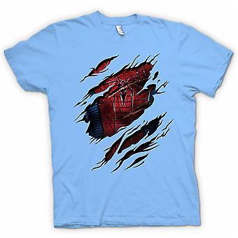 Mens T-shirt - New Spiderman Costume - Superhero Ripped Design