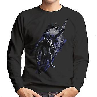 Marvel Black Panther Mask Battle Montage Men's Sweatshirt