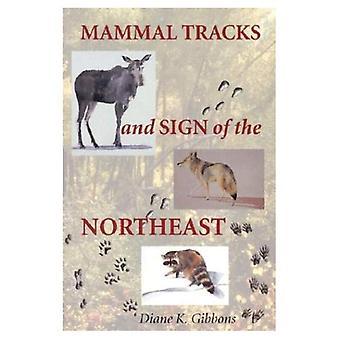 Zoogdier Tracks en teken van het noordoosten