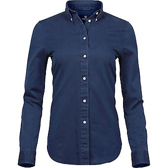 Tee Jays dam/dam långärmad Casual Twill skjorta