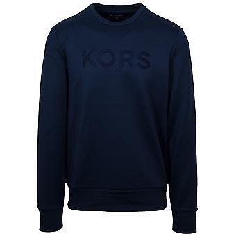 Michael Kors  Navy Blue Crew Neck Sweatshirt
