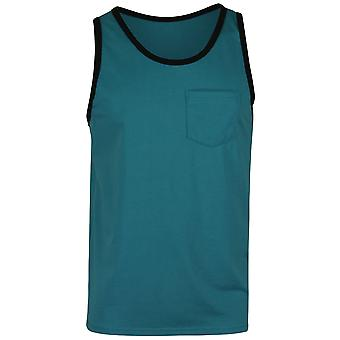 Quiksilver Mens Everyday Pocket Tank Top - Biscay Blue/Black