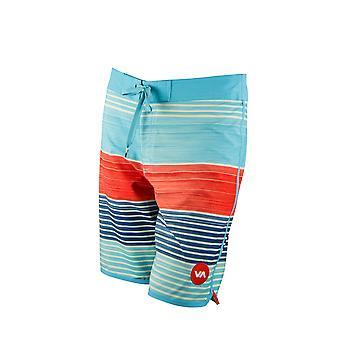 RVCA Mens VA Sport dimanche Stripe tronc Boardshorts - ciel/marine/rouge