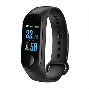Zeug Certified® Original M3 Smartband Sport Smartwatch Smartphone Watch OLED-iOS Android schwarz