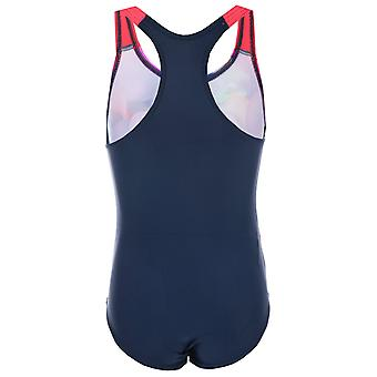 Infant Girls Speedo Essential Applique Swimsuit In Navy Pink- Graphic Print