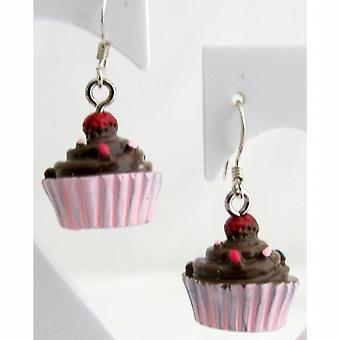 Party Favors Cupcake Earrings Hypoallergenic Chocolate Cupcake