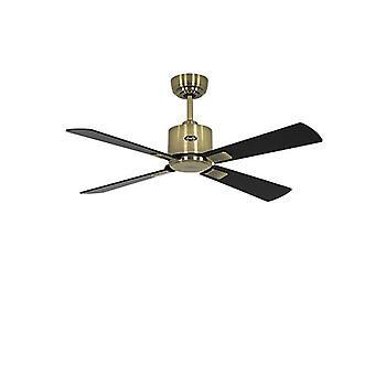 """DC ceiling fan Eco Neo II 103cm / 41"""" AB Black / Teak"""