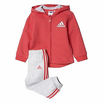 Adidas Infant Sports Terry Hooded Full Zip Tracksuit