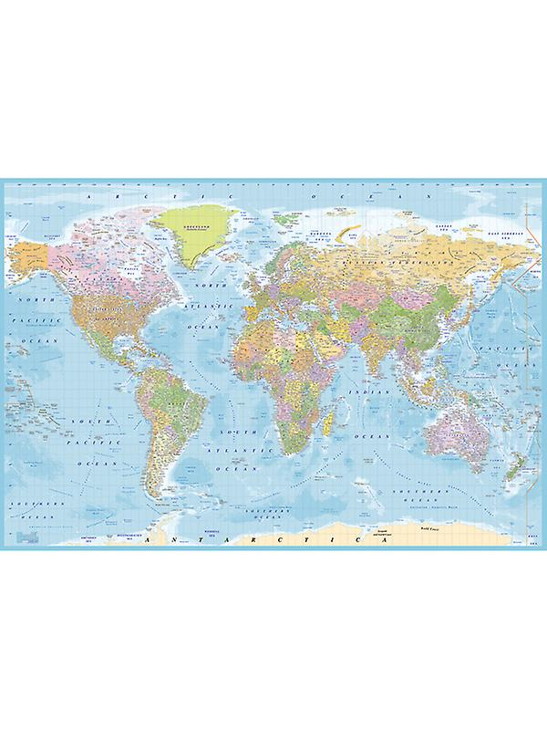 World Map Wall Mural - New 2.32m x 1.58m