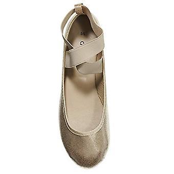 Naisten Ballet Flats metallinen elastinen hihnat slip-on kengät