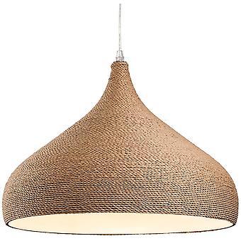 Firstlight-1 lumière plafonnier pendentif corde marron-3441
