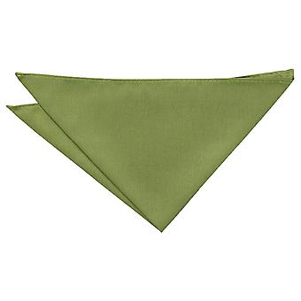 Olive Green Plain Shantung Pocket Square