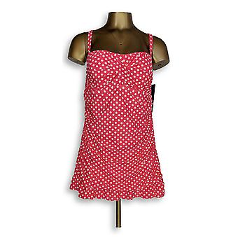 Ocean Dream Signature Swimsuit Classic Dot Swimdress Red A345668