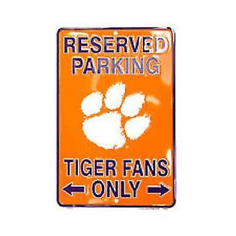 """Clemson Tigers NCAA """"Tiger Fans Only"""" Señal de Estacionamiento Reservado"""