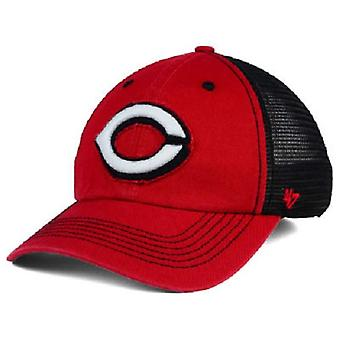 Cincinnati Reds MLB 47 Brand Closer Stretch Fitted Hat